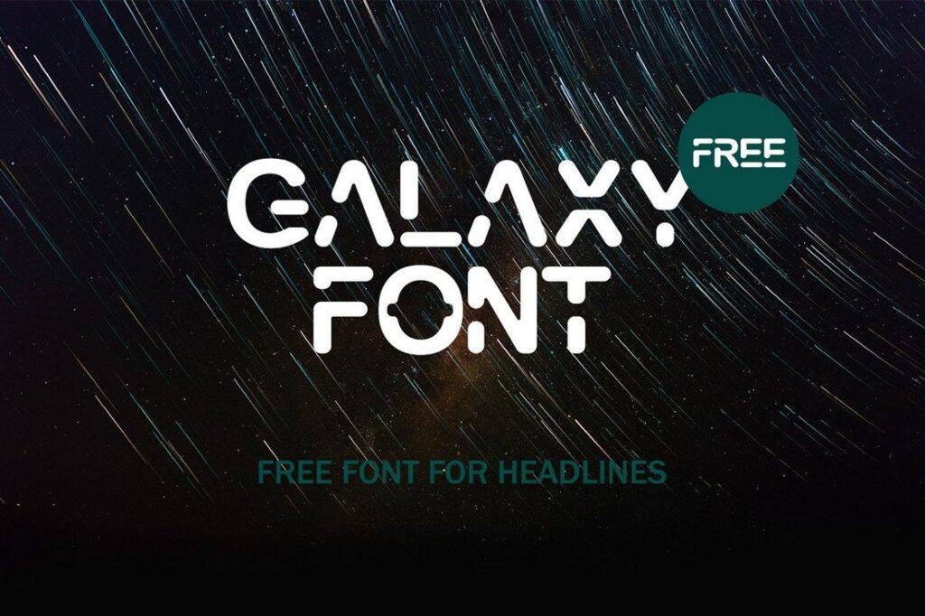 Galaxy font es una letra muy futurista