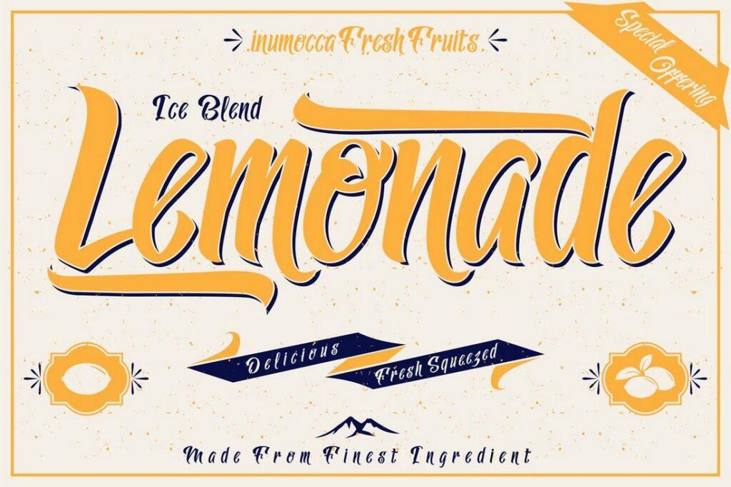 Lemonade una letra fresca para cualquier tipo de cartel
