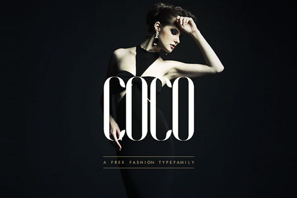 Letras para cartel de moda COCO
