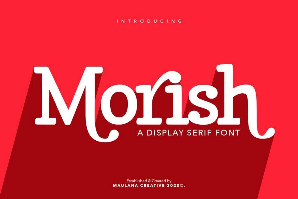 Morish tipos de tipografías