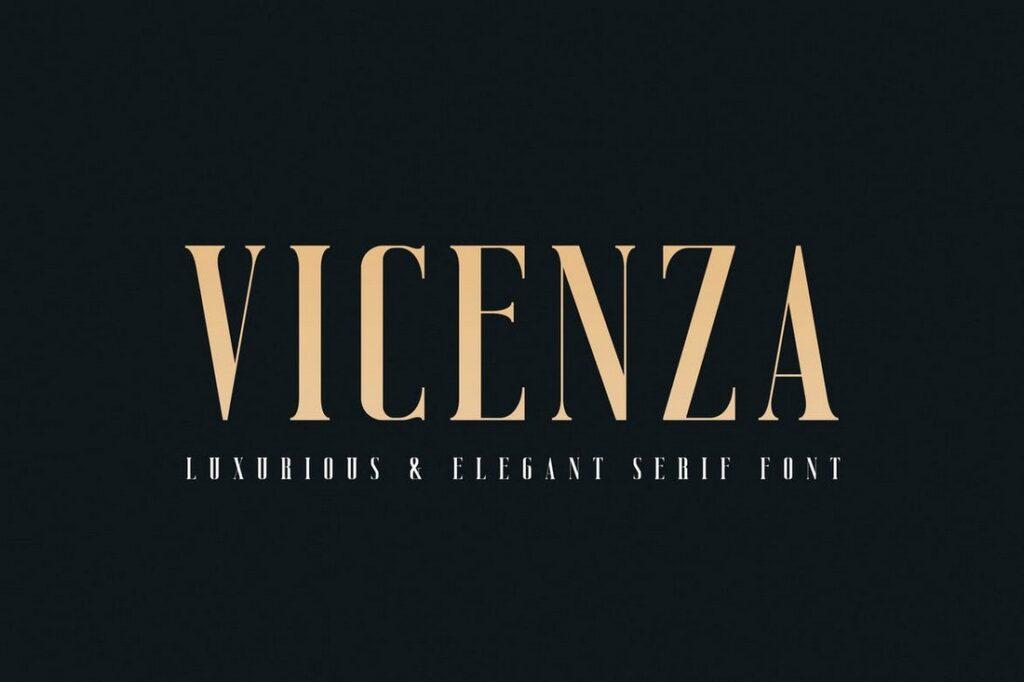 Vicenza letras elegantes para carteles