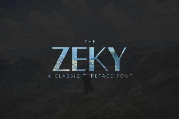 Zeky letra clasica diseño