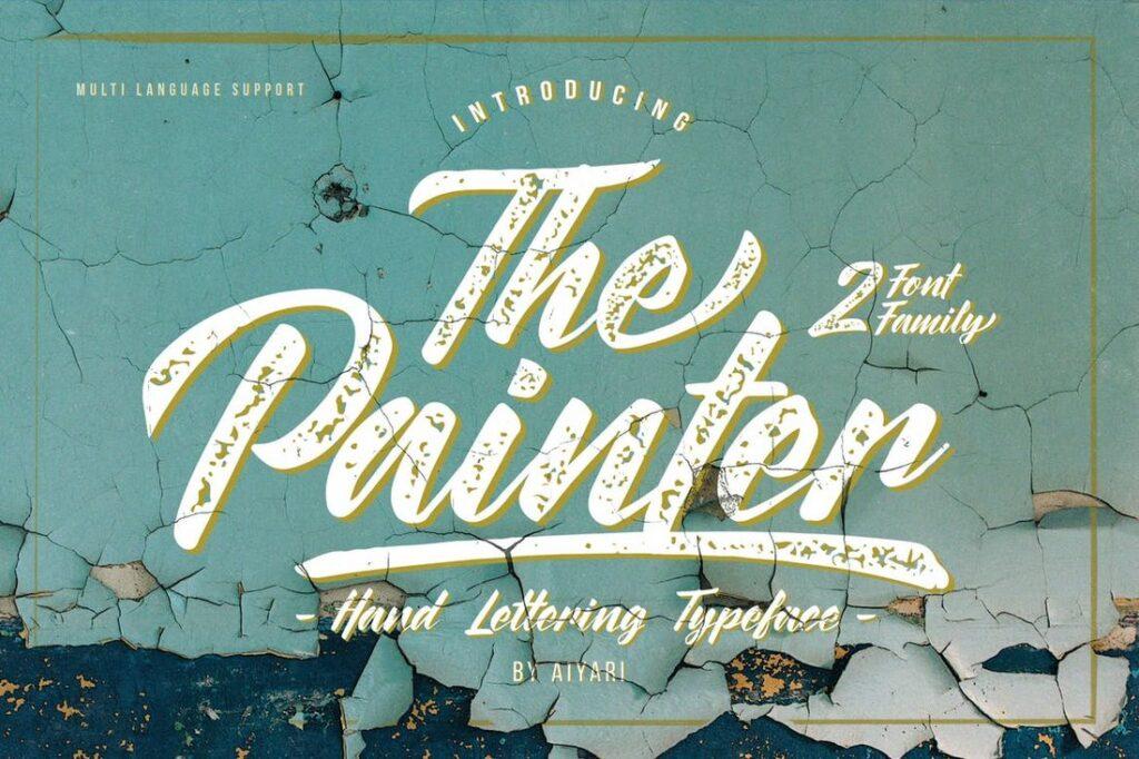 cartel letra vintage