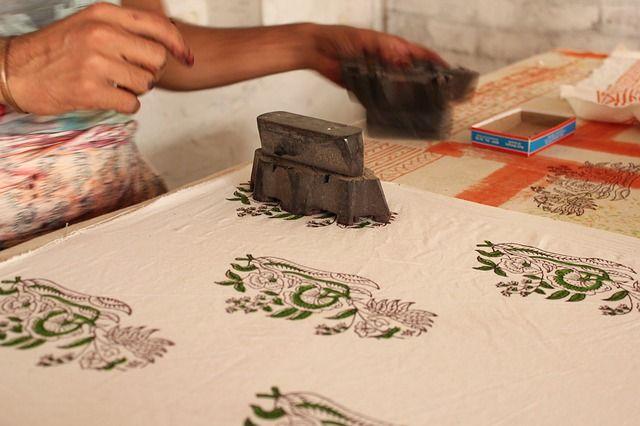 Impresión textil en bloque