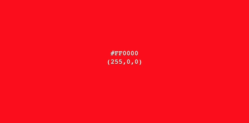 Color Rojo ff0000