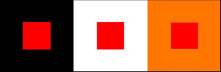 Colores rojos sobre fondos