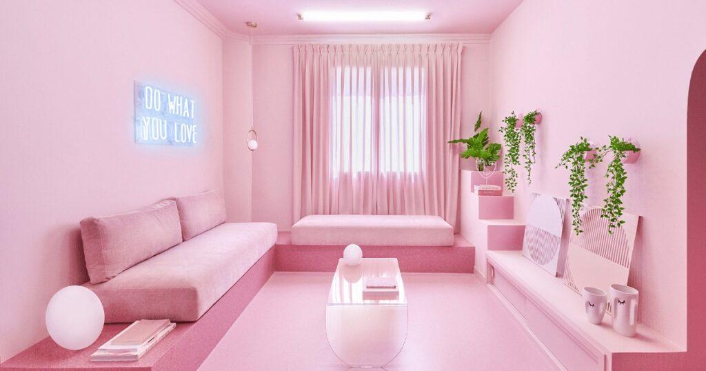 Pink room decor. Psychologie de la couleur rose