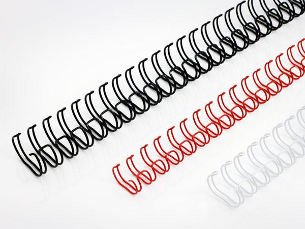 Anillas de encuadernación Wire-O en distintos tipos de color para encuarnación.