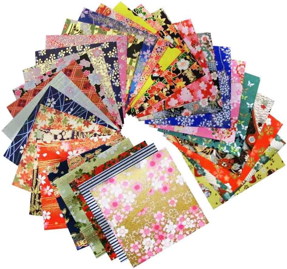 Papel japonés impreso con diseños.