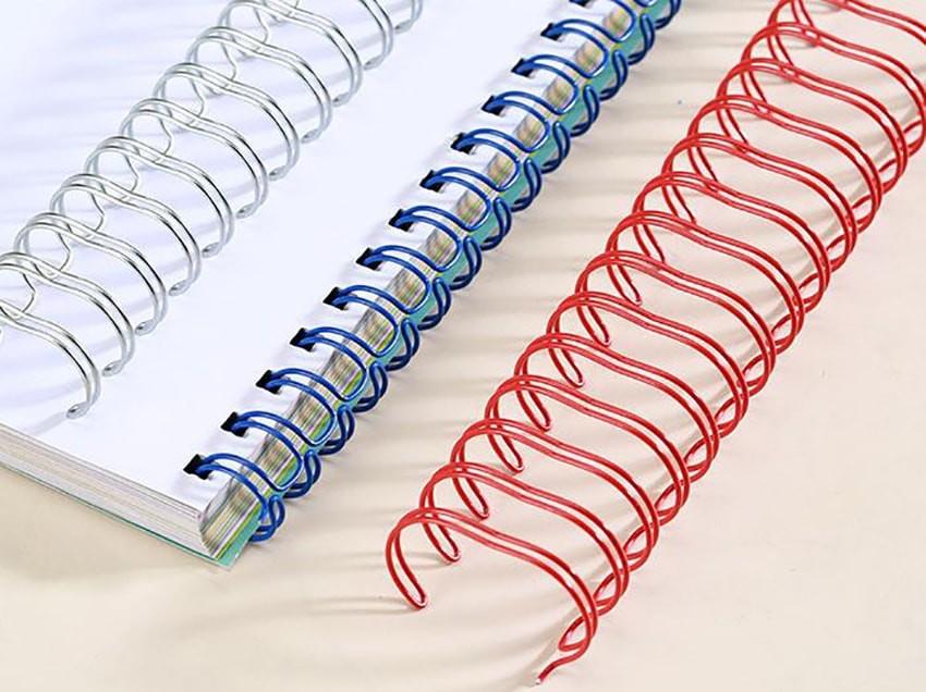 Encuadernación Wire-O para todo tipo de libros y documentos.