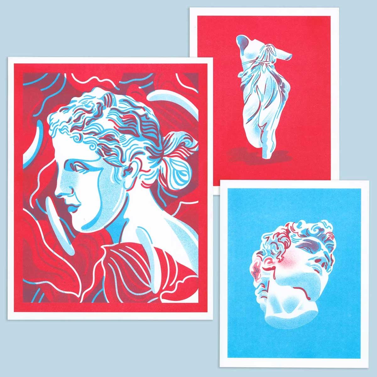 Ejemplo de impresión Riso también conocida como risografía.
