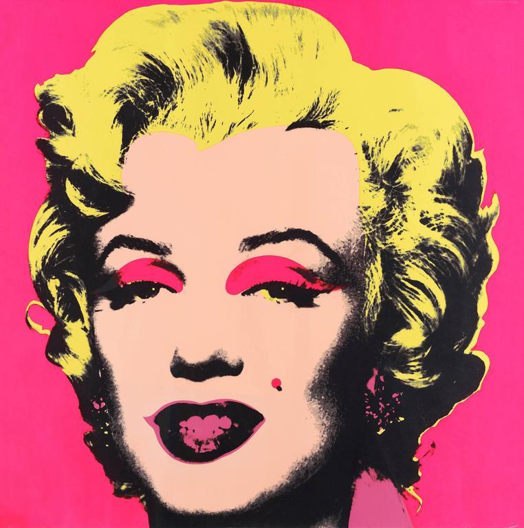 Ejemplo artístico de impresión en serigrafía de Andy Warhol.