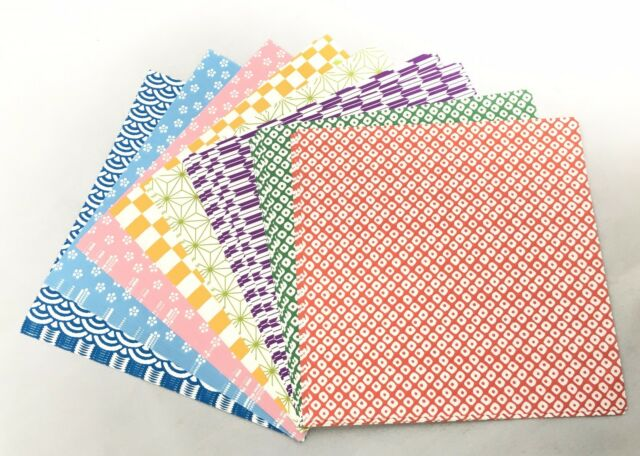 Diseños de papel japonés washi.