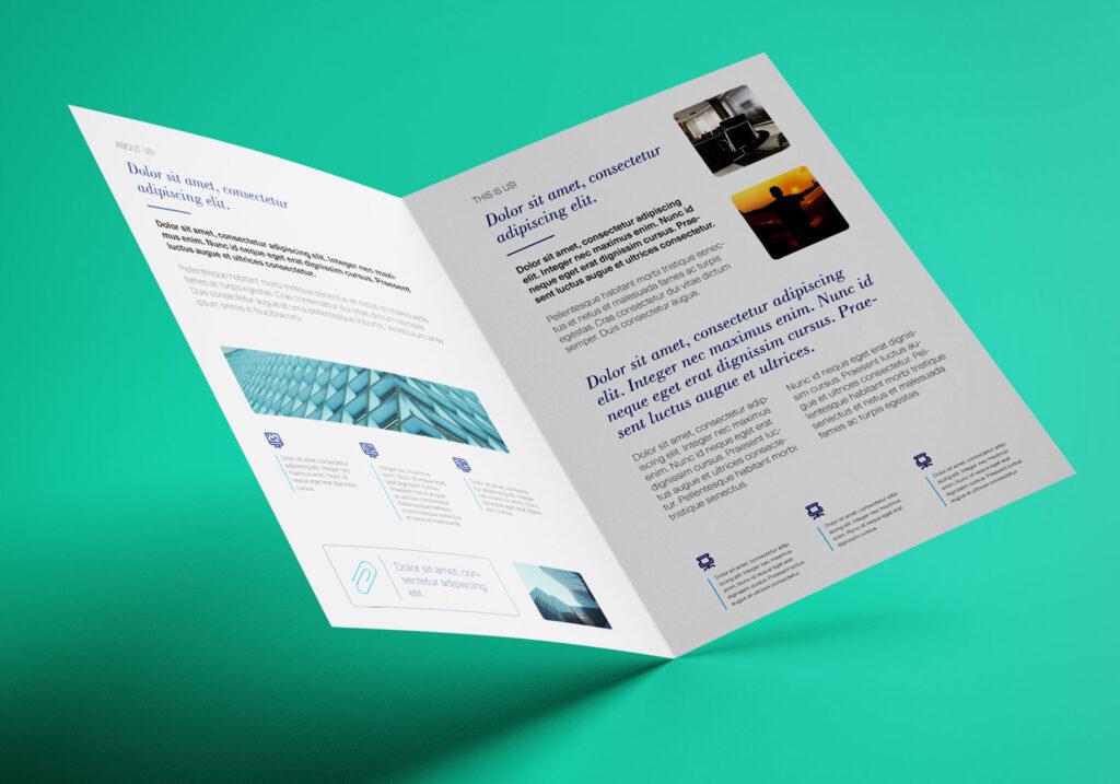 Simple brochure fold.