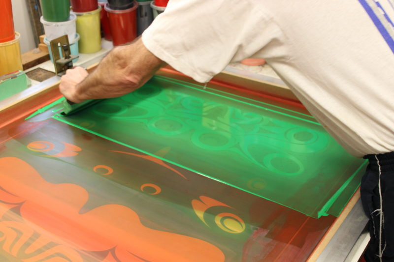 Process that is carried out for screen printing
