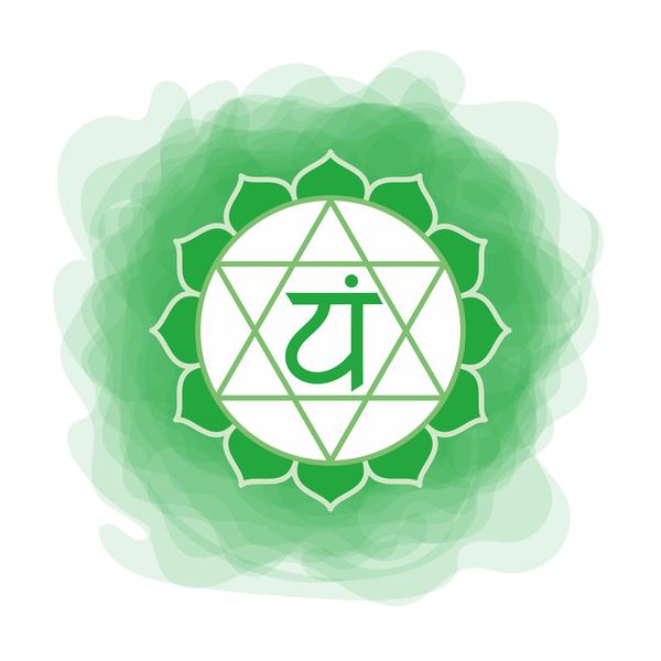 Anahata Chakra in green colour.