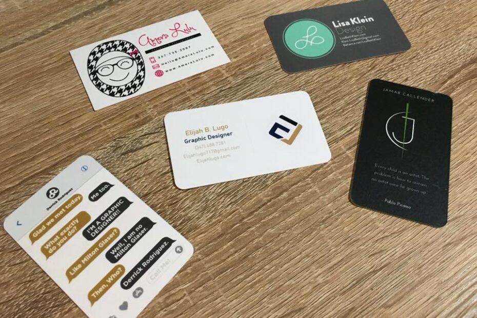 Tamaños de tarjetas de visita