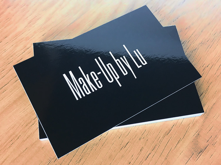 Gloss lamination on business cards