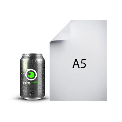 lata 33cl comparado con tamaño A5