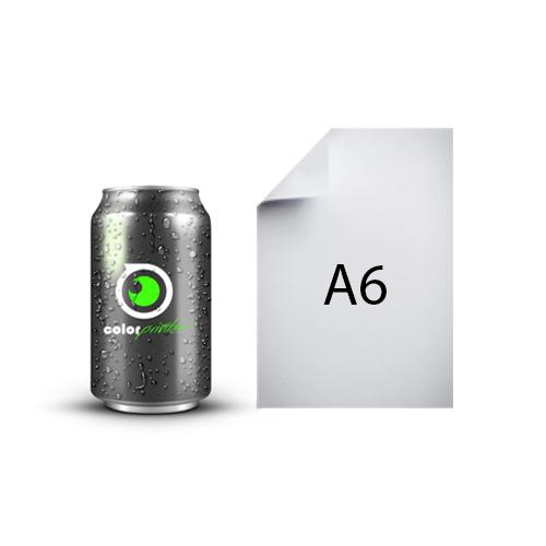 lata 33cl comparado con tamaño A6