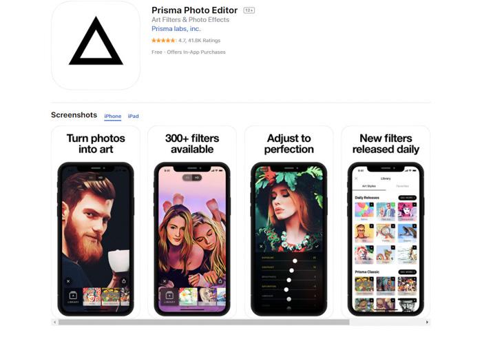 Demande de conversion de photos en images Prisma