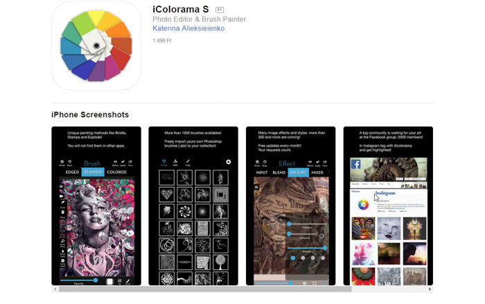 Convertir des photos en peintures ou en dessins iColorama S