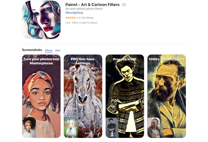 convert photo to Painnt drawing app android and iphone