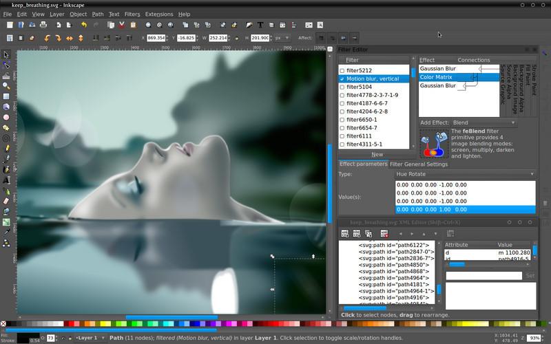 Inkscape design tool