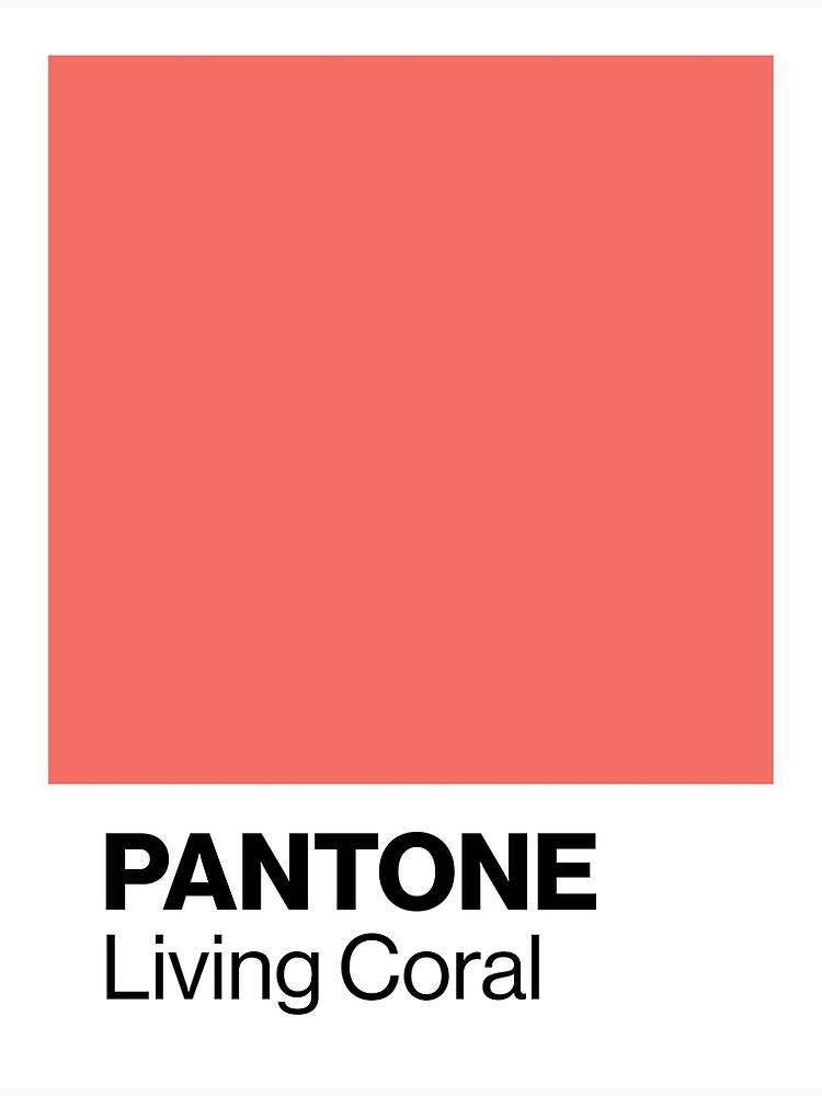 Color coral Pantone coral