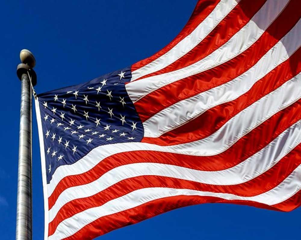 Diseño de la bandera de los Estados Unidos de América.