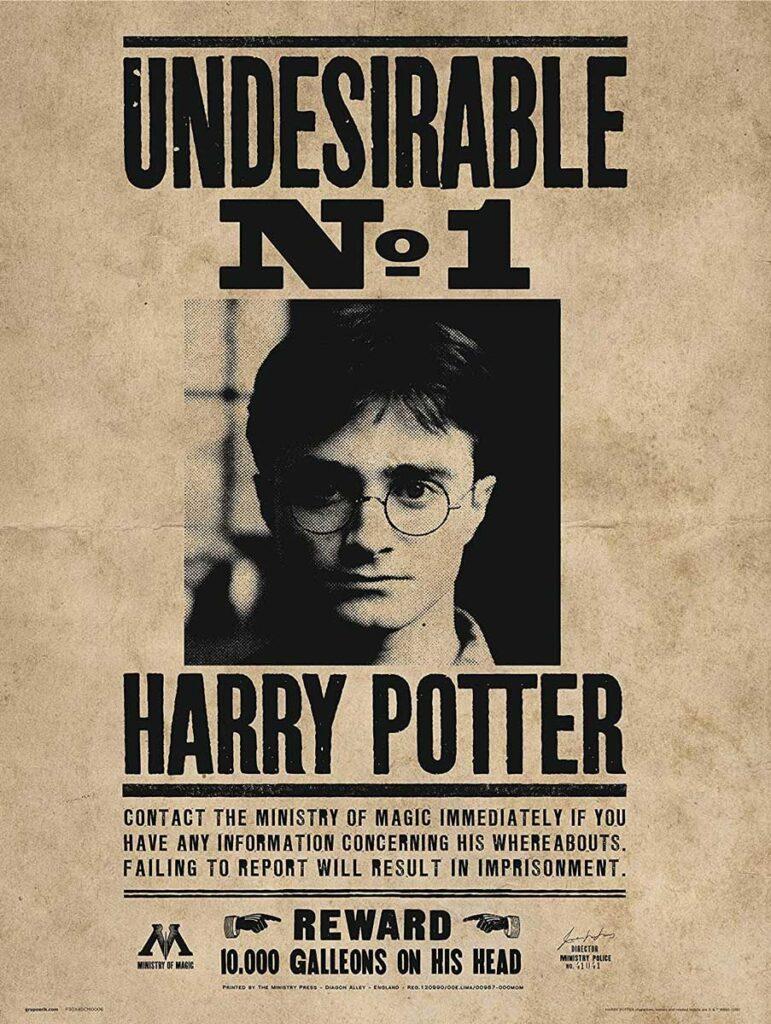Tipografías de Harry Potter, el indeseable número 1.