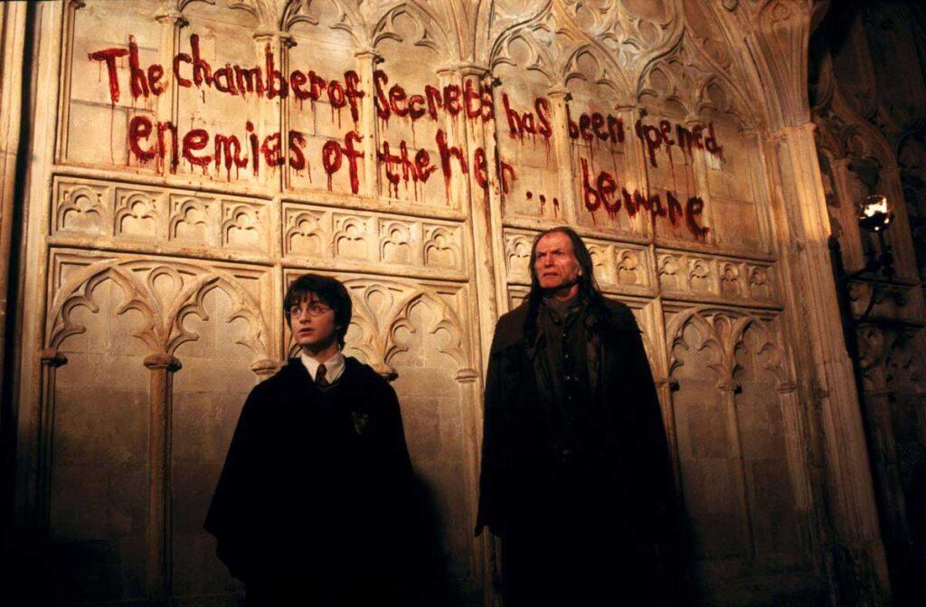 Tipografías de Harry Potter y la cámara de los secretos.