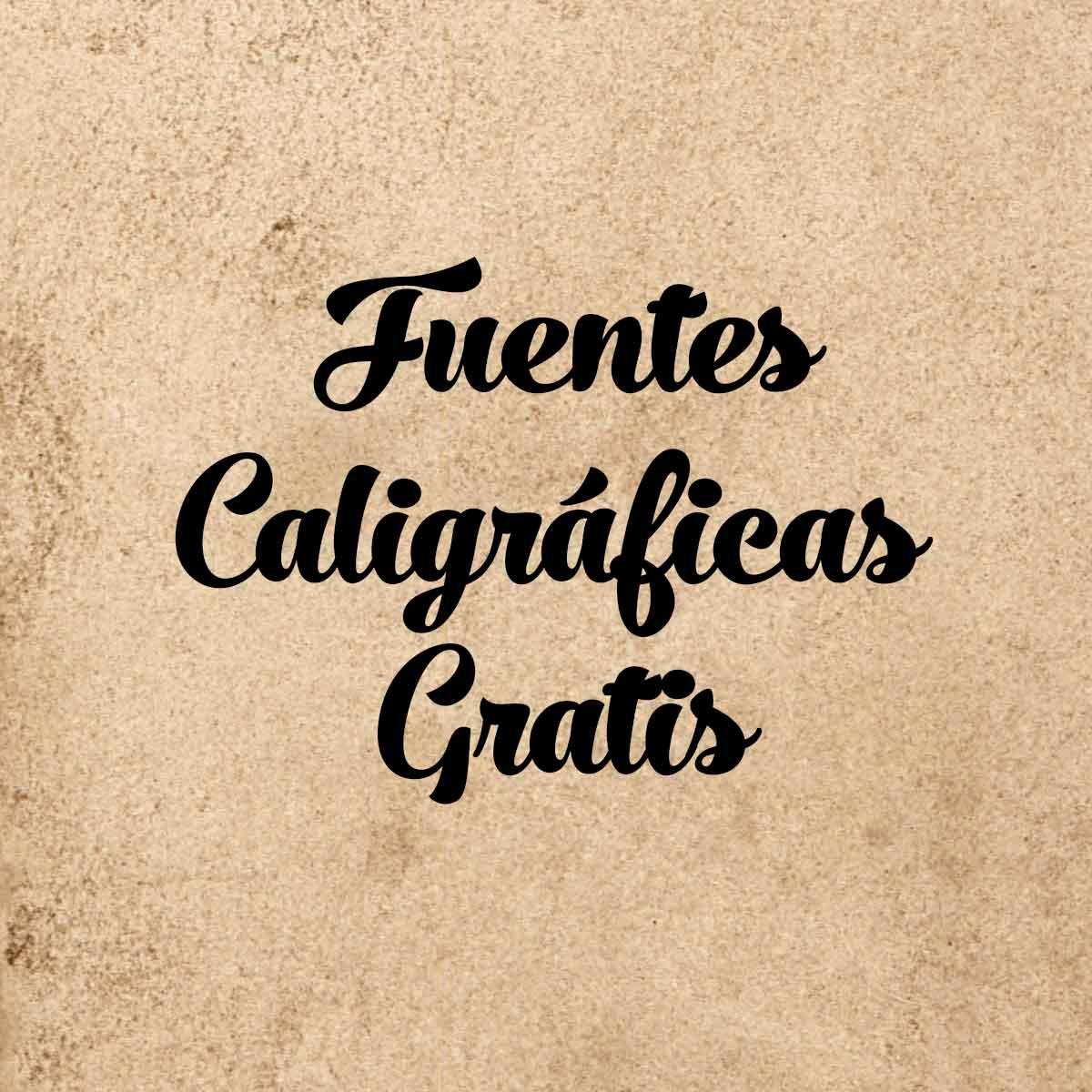 Fuentes caligráficas gratis para diseño gráfico.