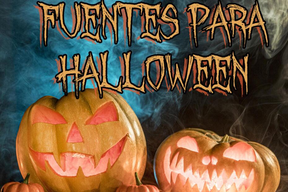 Fuentes y tipografías para Halloween de estilo terrorífico.