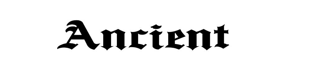 Gothic letters for download, Ancient