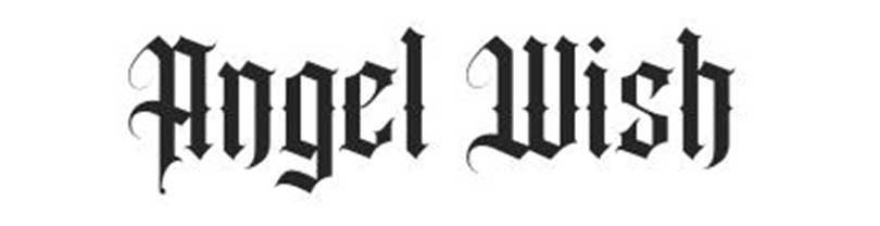Free gothic lettering, Angel Wish