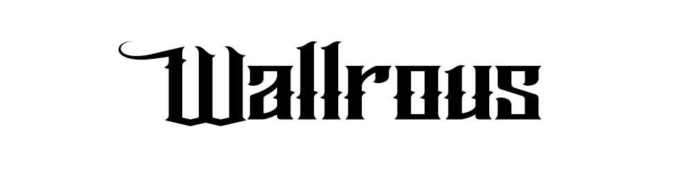 Gothic typefaces graits Wallrous