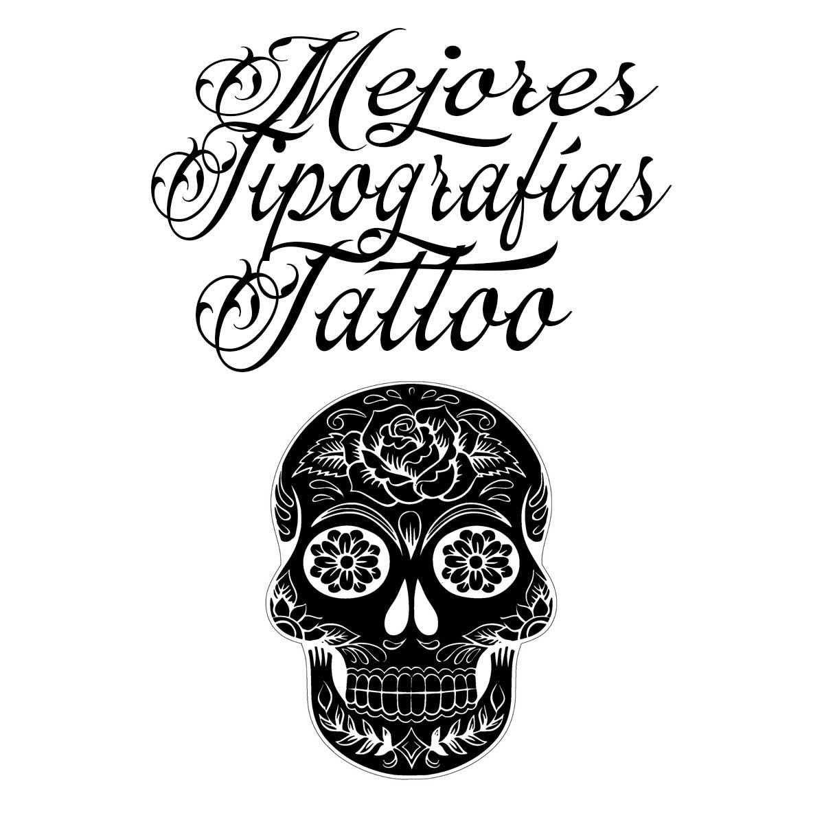 Mejores tipografías para tatuaje completamente gratis.