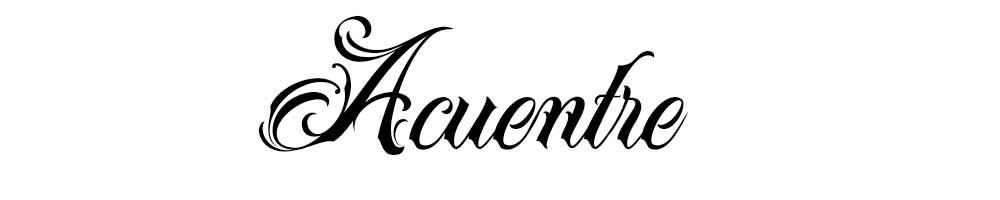 Tipografía para tatuajes Acuentre, gratis.