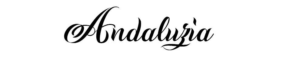 Tipografías para tatuajes de caligrafía Andaluzia.