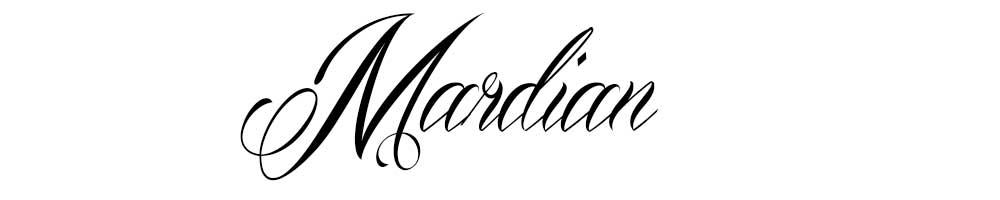 Tipografías para tatuajes Mardian.